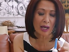 70 yo asian granny takes anal