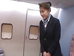 Japanese matures cabin attendants service