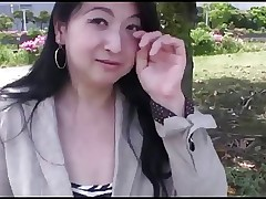 42yr old Maki Nonaka Outside and Creamed..