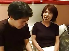 63yr old Japanese Granny Loves Younger Dick..
