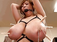 Asian japanese with monster big tits having..
