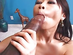Japanese Yumi gets Big Black Beef!
